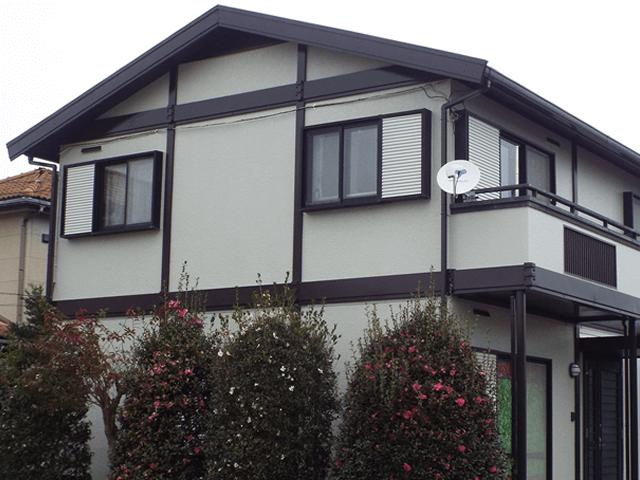 千葉県野田市の外壁塗装屋根塗装の施工実績 施工後