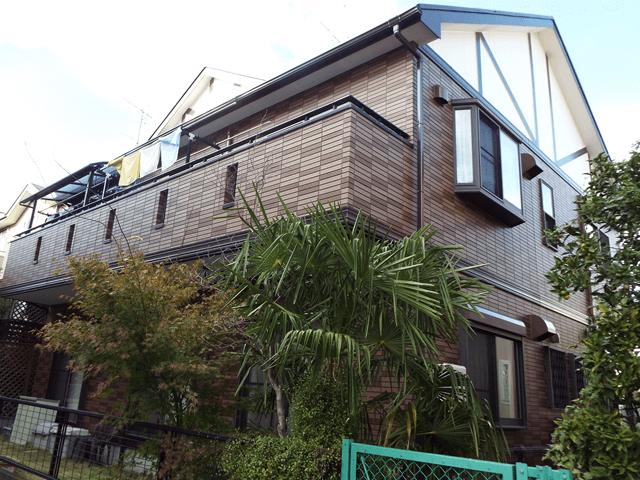 埼玉県春日部市の外壁塗装屋根塗装 デザイン塗装の施工事例 施工後