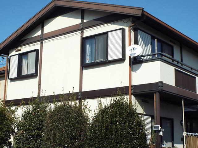 千葉県野田市の外壁塗装屋根塗装の施工実績 施工前