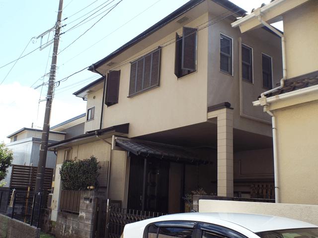千葉県船橋市の外壁塗装屋根塗装の施工実績 施工前